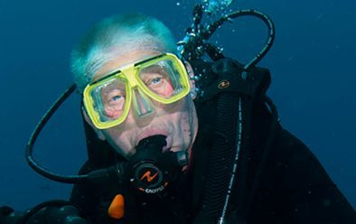 Veteran diver Mike Maloney.