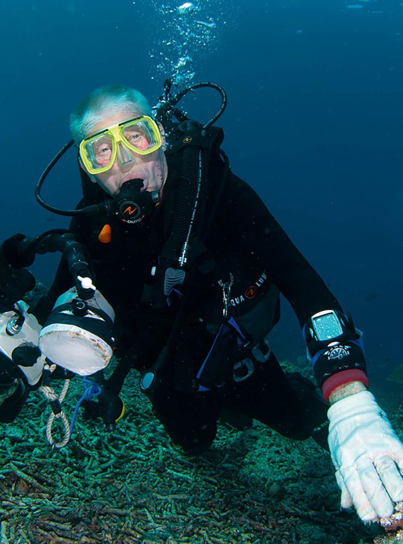 Veteran diver Mike Maloney.