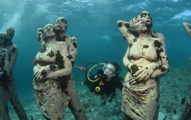 Laura Waters explores the underwater sculpture garden at Meno Slope.
