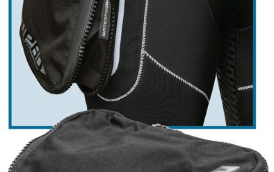 WPAD pocket in-situ (top) and (above) detached from W80 wetsuit.