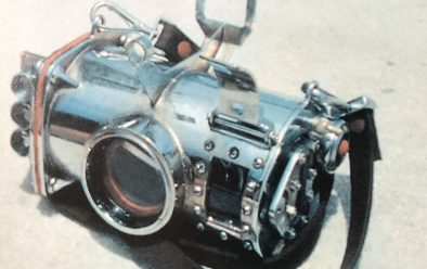 The home-made underwater housing for the Robot 35mm camera used to take the first colour photographs of the Great Barrier Reef.