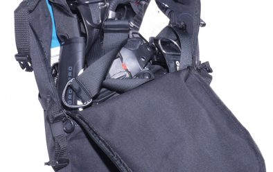 Hydros Pro in its rucksack.