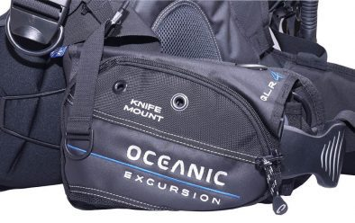QLR weight-release and accessory pocket with knife-mount.