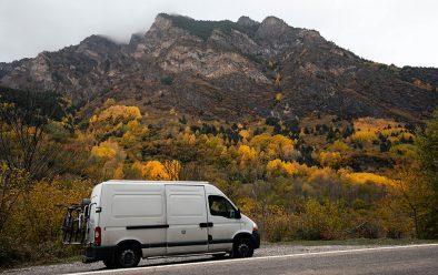 The van in the Pyrenees.