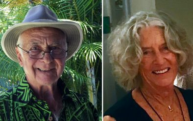 Left to right: Principal investigator Dr Philip R Foti MD; project manager Carol Wilcox, herself a snorkel-drowning survivor.